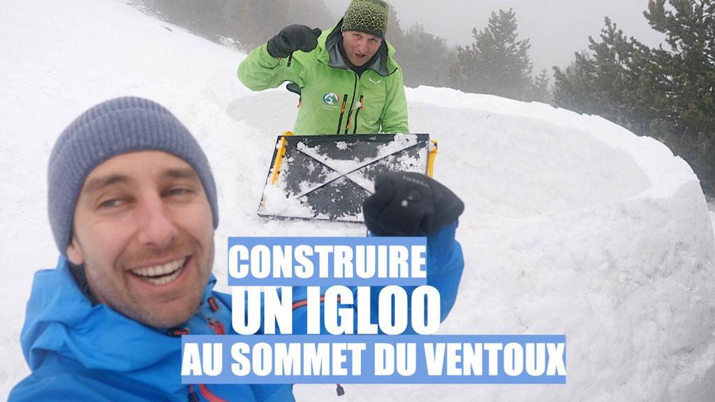 Construire un igloo au sommet du Mont Ventoux